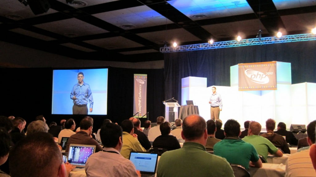 Andi Gutmans giving his opening keynote at ZendCon 2010