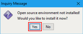 ACS package management install prompt