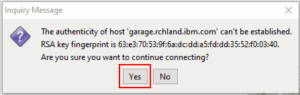ACS package management trust on first use prompt