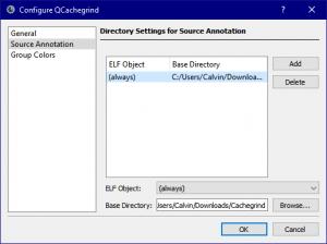 QCachegrind Source Annotation Settings