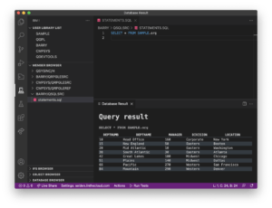 Code for IBM i: View SQL results inline